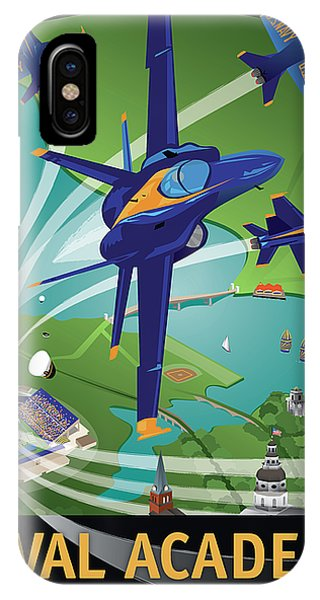 Blue Angels Over Usna IPhone Case
