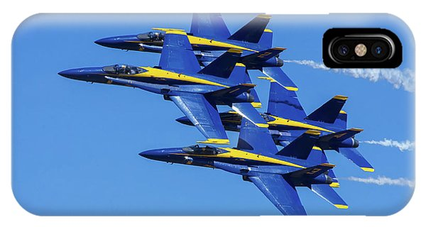 Blue Angels Very Close Formation 1 IPhone Case