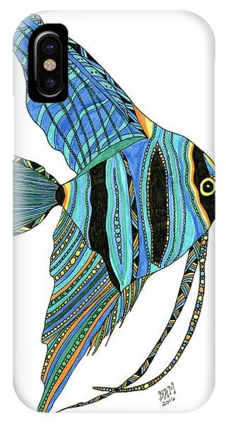 Blue Anglefish IPhone Case