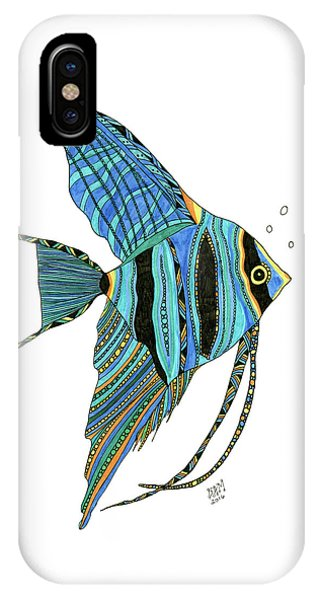 Blue Anglefish IPhone Case