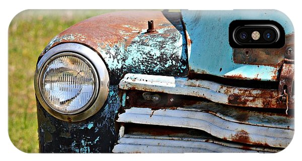 Blue Antique Chevy Grill- Fine Art IPhone Case