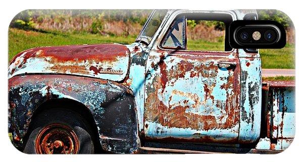 Blue Antique Chevy Truck- Fine Art IPhone Case