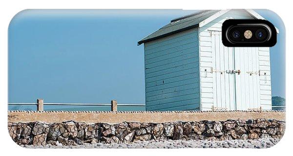Blue Beach Hut IPhone Case