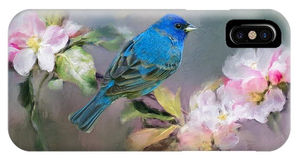 Blue Beauty In The Flowers IPhone Case