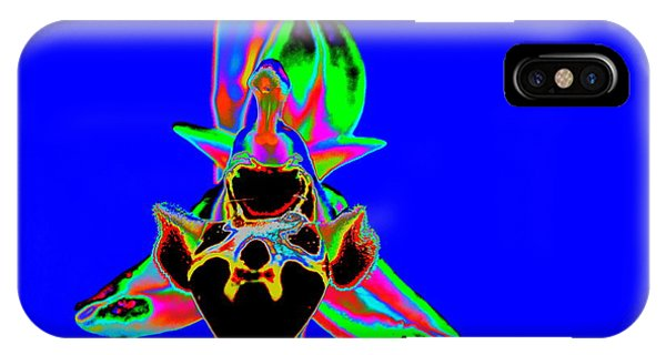 Blue Bee Orchid IPhone Case