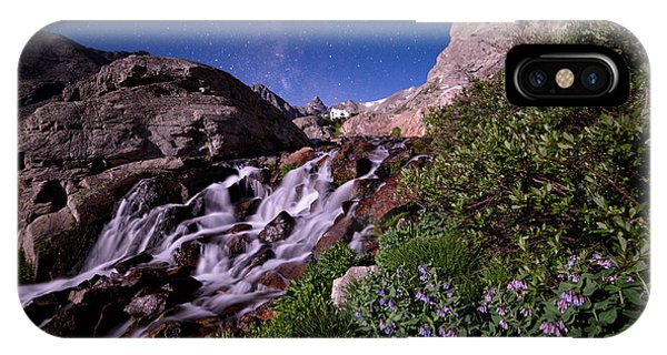 Indian Peaks Wilderness iPhone Case - Blue Bell Falls by Mike Berenson