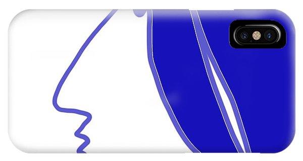 Blue Belle IPhone Case