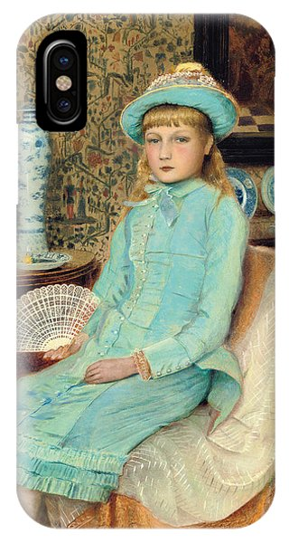 1877 iPhone Case - Blue Belle by John Atkinson Grimshaw