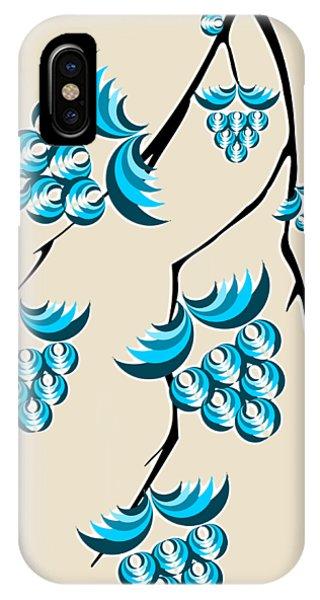 Shrub iPhone Case - Blue Berries Branch by Anastasiya Malakhova