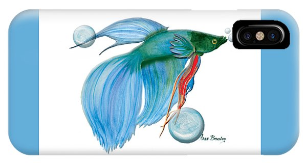 Blue Beta Fish IPhone Case