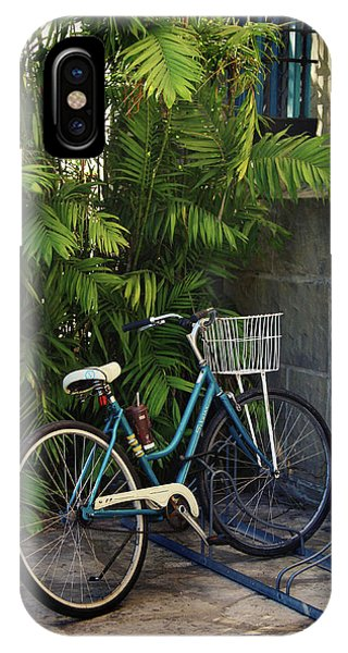 Barbara iPhone Case - Blue Bike-  By Linda Woods by Linda Woods