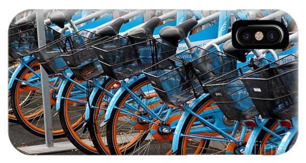 Blue Bikes IPhone Case