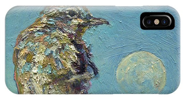 Blue Bird Moon IPhone Case
