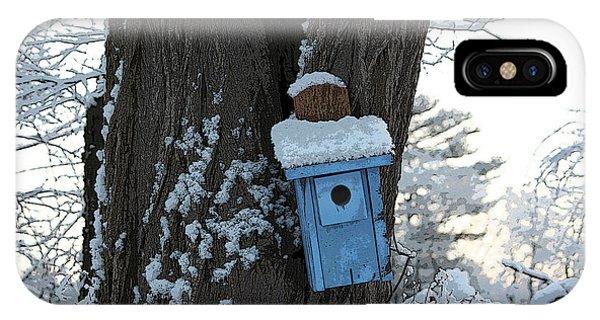 Blue Birdhouse IPhone Case