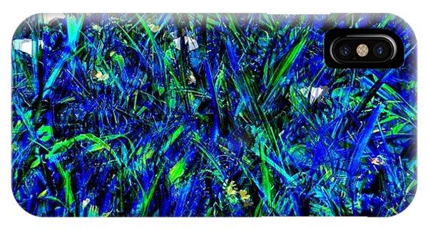 Blue Blades Of Grass IPhone Case