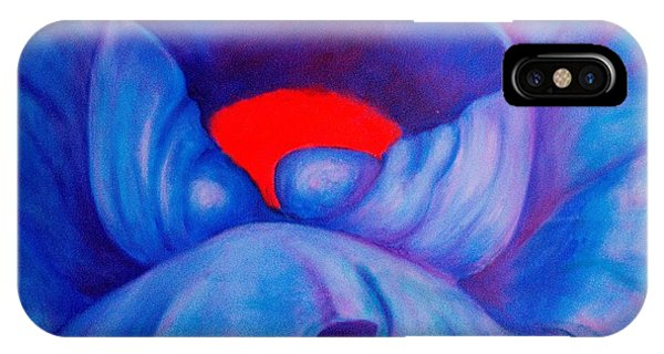 Blue Bloom IPhone Case
