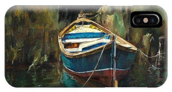 Blue Boat IPhone Case