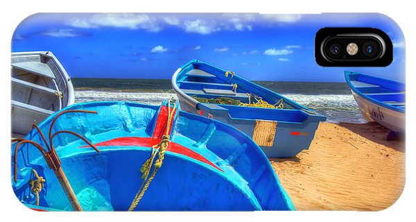 Blue Boats IPhone Case