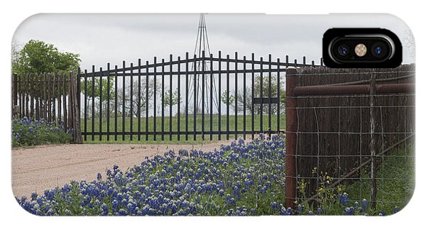 Blue Bonnets By Gate IPhone Case