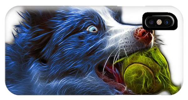 IPhone Case featuring the painting Blue Border Collie - Elska -  9847 - Wb by James Ahn