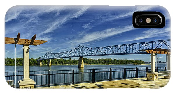 Blue Bridge And Smothers Park IPhone Case