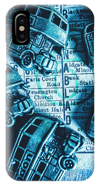 Attraction iPhone Case - Blue Britain Bus Bill by Jorgo Photography - Wall Art Gallery