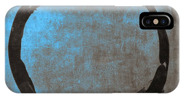 Abstract Expression iPhone Case - Blue Brown Enso by Julie Niemela