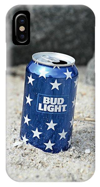 Blue Bud Light IPhone Case