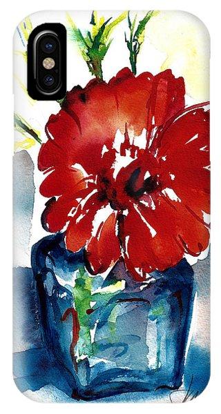 Blue Bud Vase IPhone Case