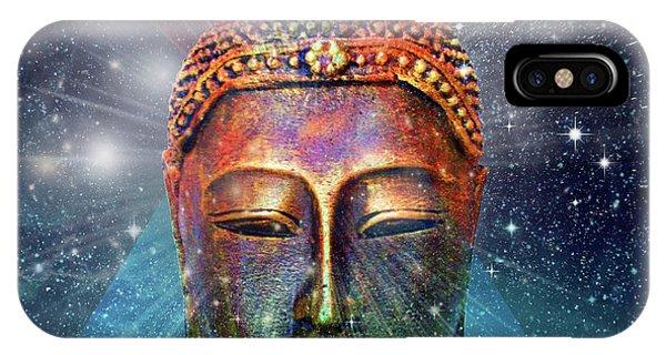 Buddhism iPhone Case - Blue Buddha by Mark Ashkenazi