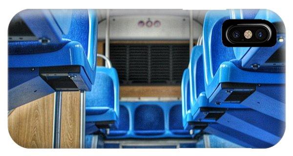 Blue Bus Seats IPhone Case