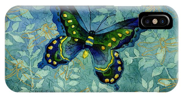Digital iPhone Case - Blue Butterfly by Hailey E Herrera