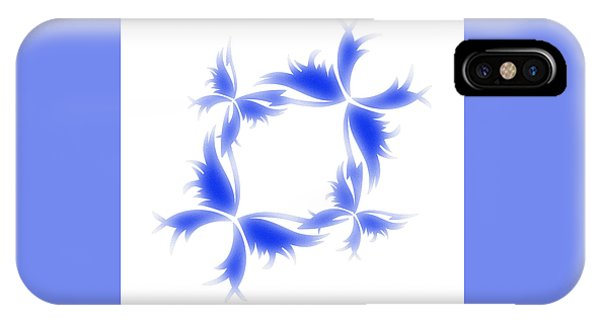 Blue Butterfly Wreath IPhone Case