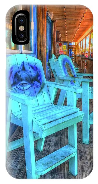 iPhone Case - Blue Chairs by Debbi Granruth