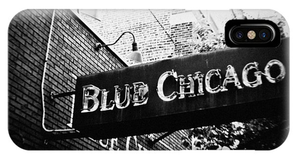 Blue Chicago Nightclub IPhone Case