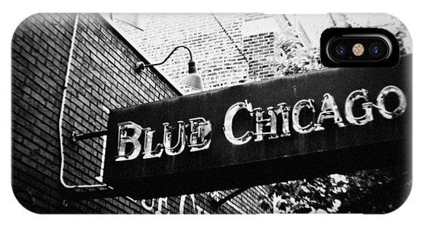Blue Chicago Nightclub IPhone Case