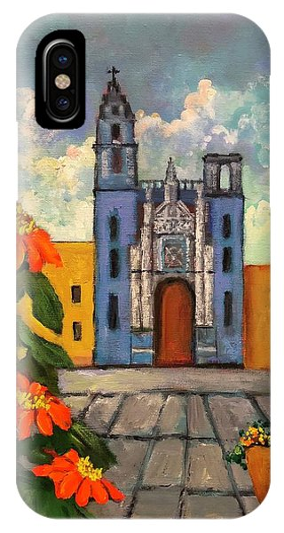 Blue Church   Iglesia Azul IPhone Case