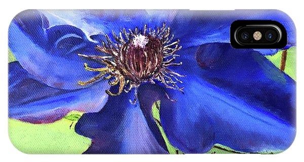 Blue Clematis IPhone Case