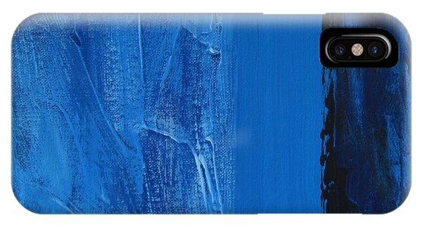 IPhone Case featuring the painting Blue Collar by Rick Baldwin