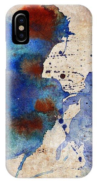 Blue Color Splash IPhone Case