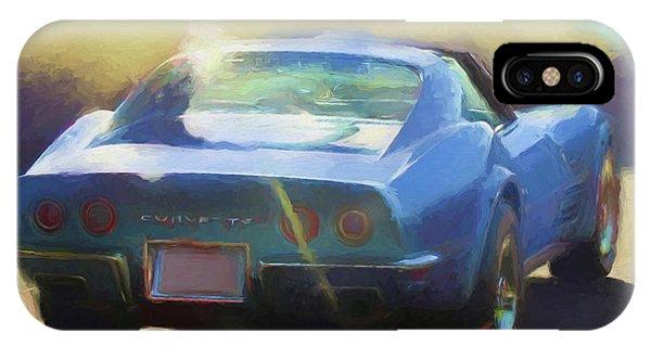 Blue Corvette IPhone Case