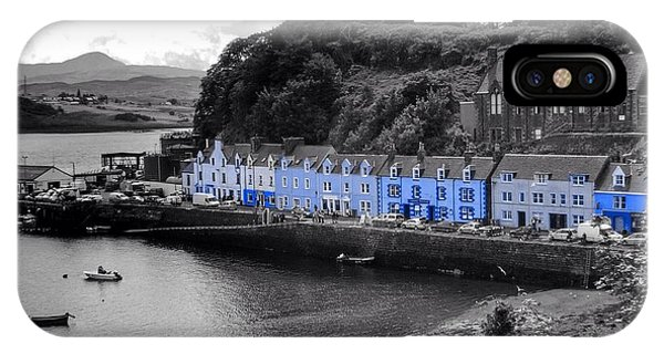 Blue Cottages At Portree Harbour 5 IPhone Case