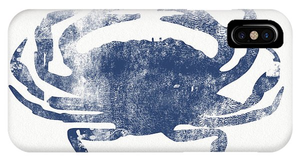 Gallery Wall iPhone Case - Blue Crab- Art By Linda Woods by Linda Woods