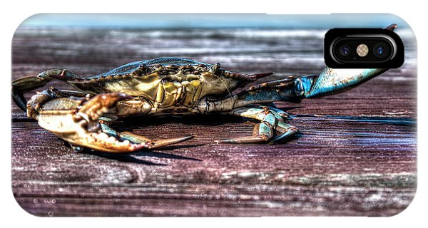 Blue Crab - Big Claws IPhone Case