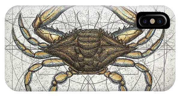 Chesapeake Bay iPhone X Case - Blue Crab by Charles Harden