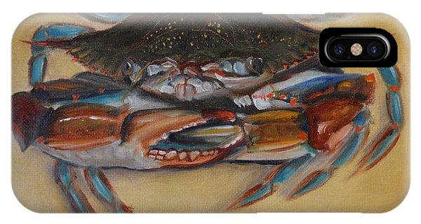 iPhone Case - Blue Crab IIi by Karen Langley