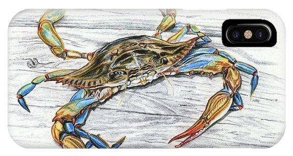 Chesapeake Bay iPhone X Case - Blue Crab by Jana Goode