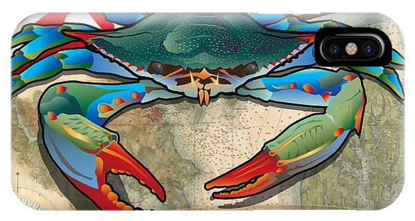 Blue Crab Of Maryland IPhone Case