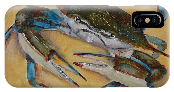 iPhone Case - Blue Crab V by Karen Langley