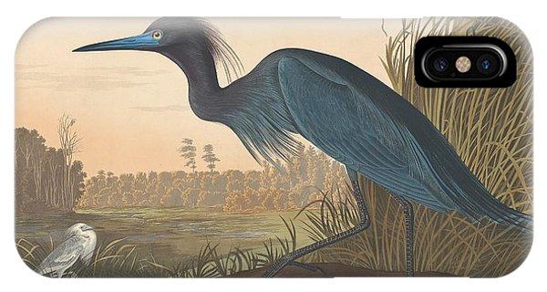 Crane iPhone Case - Blue Crane Or Heron by John James Audubon